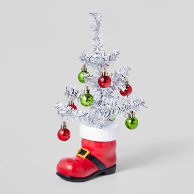 Ornament Twig in Santa Boot Decorative Figurine - Wondershop™