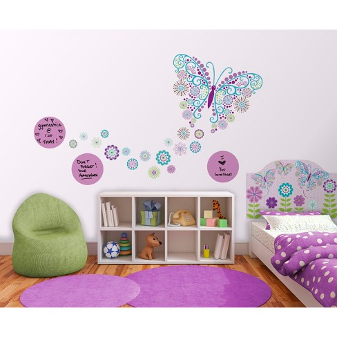 WallPops!® Social Butterfly Room Décor Kit - Purple/Blue - image 1 of 1