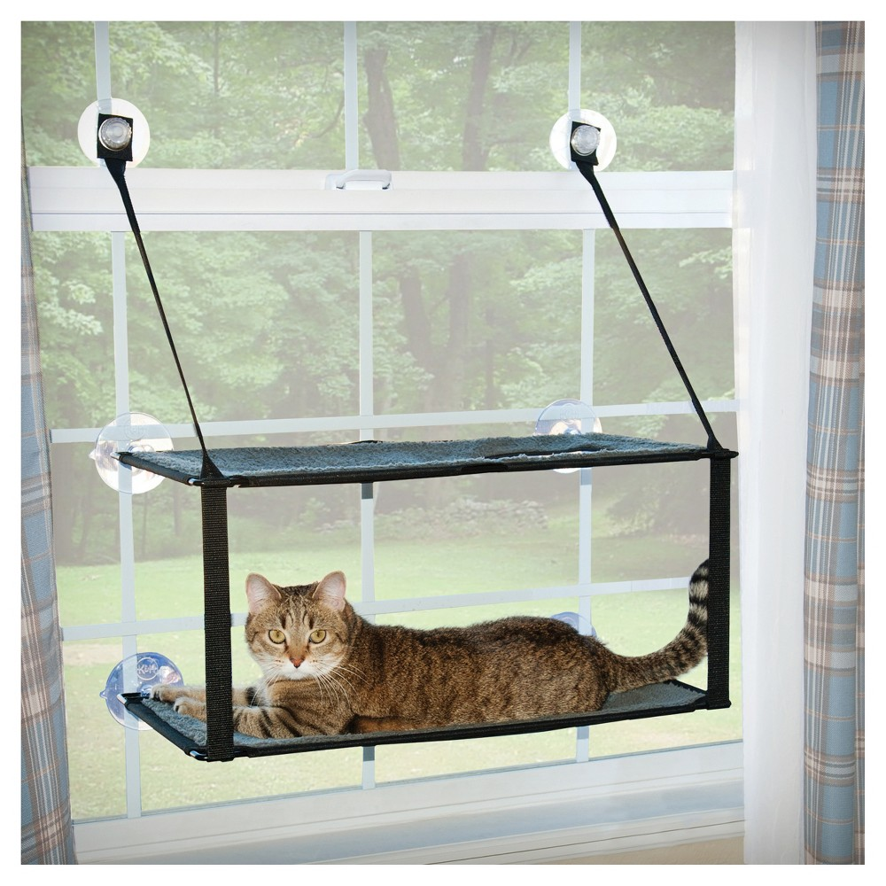 K&h Pet Products EZ Mount Window Double Stack Kitty Sill Gray 12 x 23