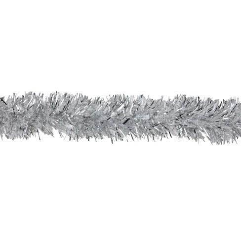 Northlight 12 X 3 Unlit Silver Snowblush Spiral Tinsel Christmas Garland