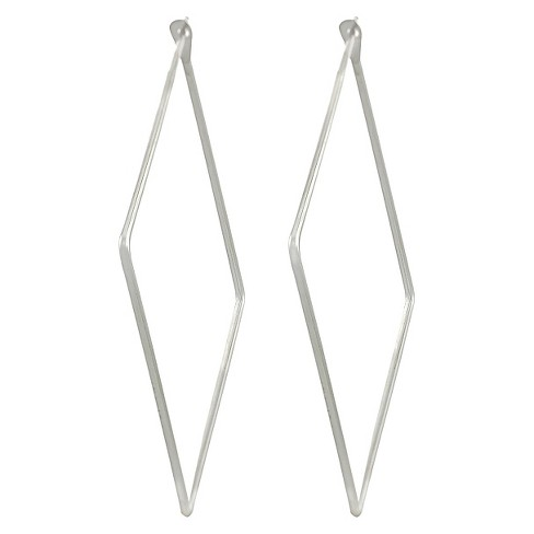 Women S Journee Collection Sterling Silver Square Hoop Earrings 41mm