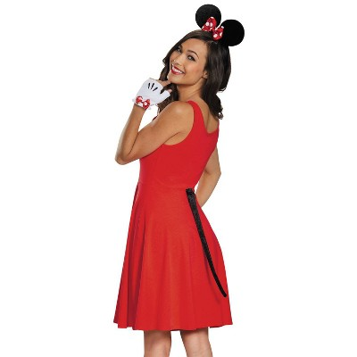 Minnie Mouse Gloves Ears Tail - One Size
