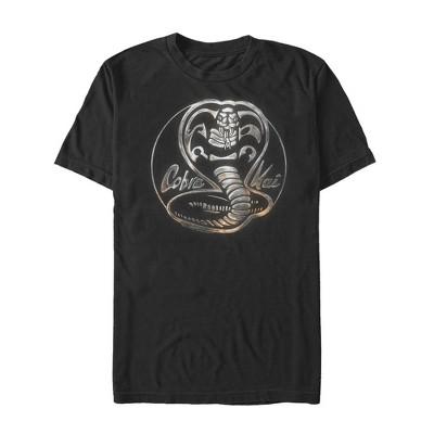 Men's Cobra Kai Metal Snake Logo T-Shirt