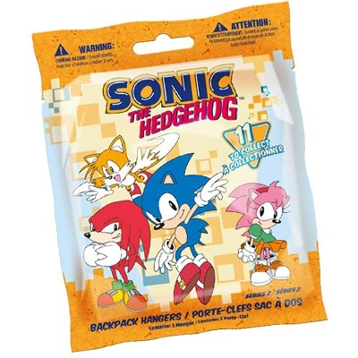 Just Toys Sonic the Hedgehog 2 Inch Backpack Hanger Series 2  | One Random
