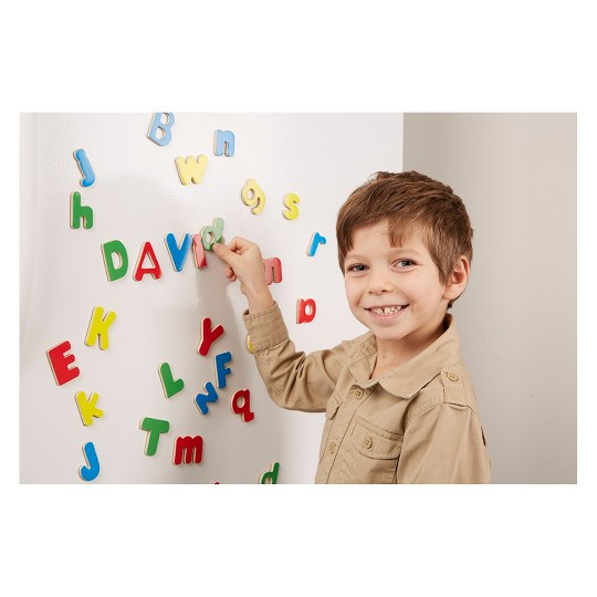 Melissa & Doug Deluxe Magnetic Letters and Numbers Set With 89 Wooden Magnets image number null