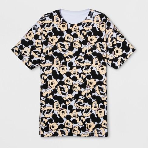 07eadd7eb Men's Short Sleeve Disney Mickey Mouse Crew T-Shirt - White M : Target