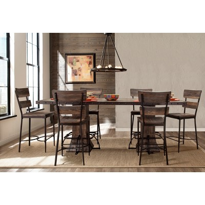 7pc Jennings Rectangle Counter Height Dining Set Distressed Walnut - Hillsdale Furniture