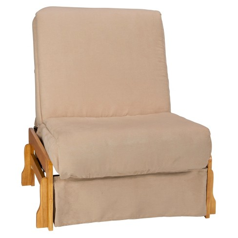 Low Arm Perfect Futon Sofa Sleeper - Natural Wood Finish - Sit N Sleep - image 1 of 4