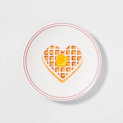 """8.5"""" Melamine Waffle Decal Salad Plate - Opalhouse™"""