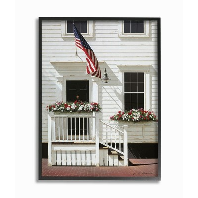 Stupell Industries Americana Town House Front Rural Country Charm