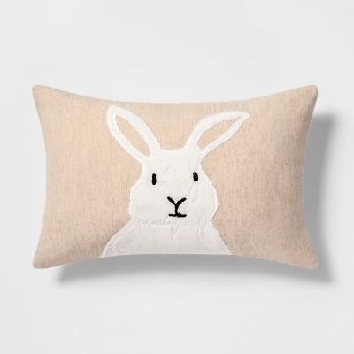 view Bunny Lumbar Throw Pillow - Threshold on target.com. Opens in a new tab.