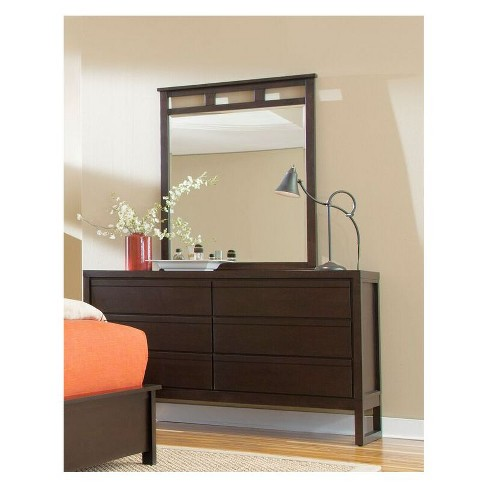 Athena Drawer Dresser and Mirror - Dark Chocolate - Progressive Furniture - image 1 of 1