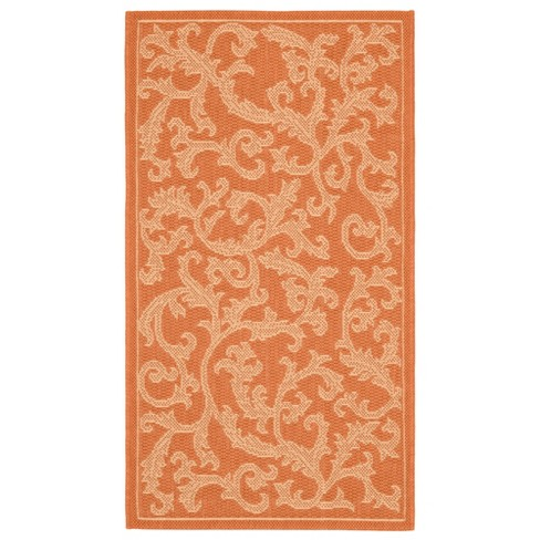 "Savoy Rectangle 2' X 3'7"" Outdoor Rug - Terracotta / Natural - Safavieh® - image 1 of 1"
