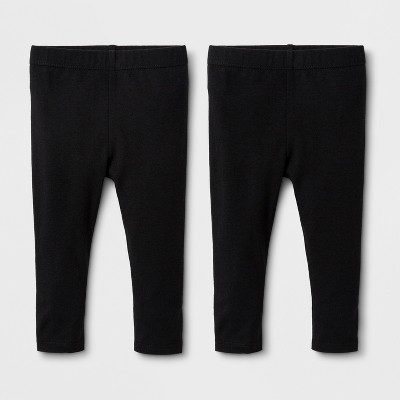Baby Girls' 2pk Leggings Set - Cat & Jack™ Black 3-6M