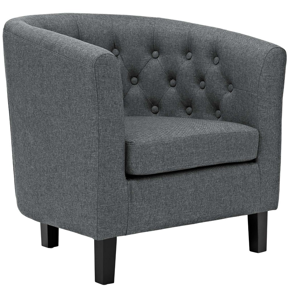 Prospect Upholstered Armchair Gray - Modway
