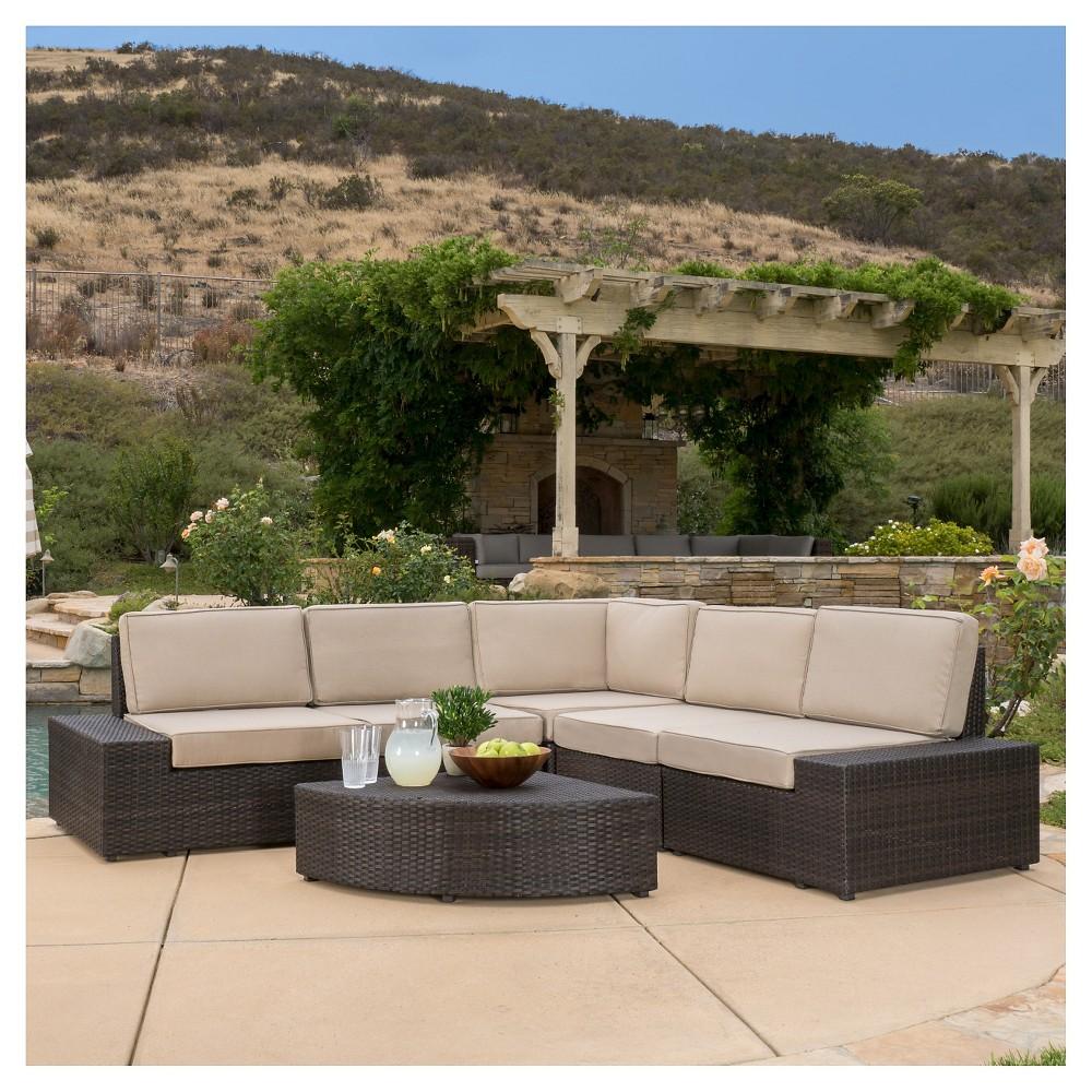 Santa Cruz 6pc Wicker Patio Sofa Set - Brown - Christopher Knight Home