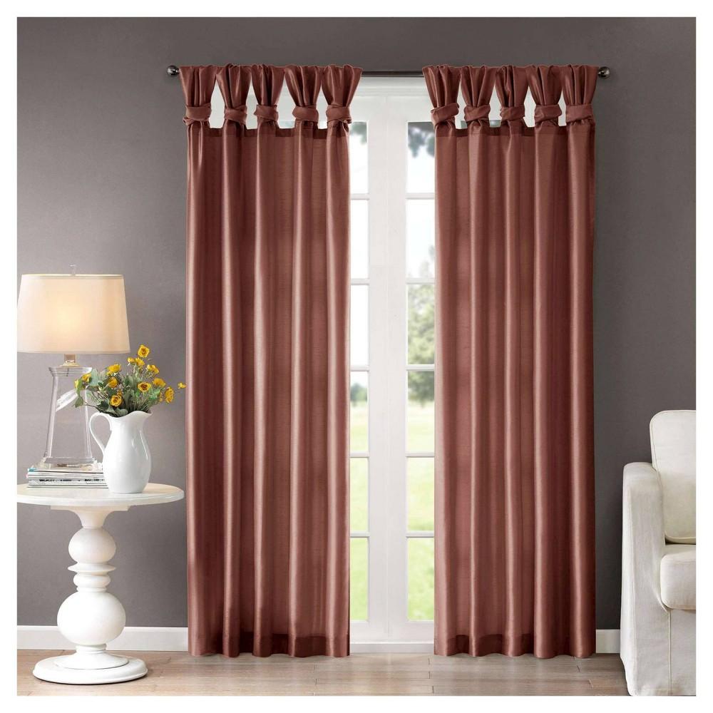 108 34 X50 34 Lillian Twisted Tab Lined Light Filtering Curtain Panel Orange