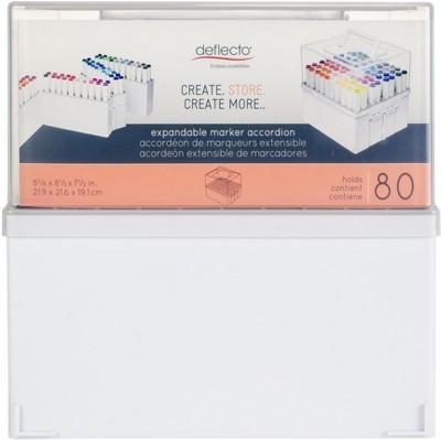 Deflecto Expandable Marker Accordion Organizer-White/Clear