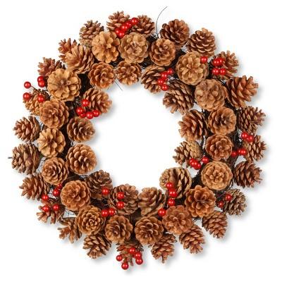 20  Pinecone Wreath - National Tree Company