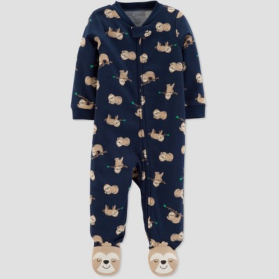 Baby Boys' Interlock Sloth Sleep 'N Play - Just One You® made by carter's Navy Blue 3M
