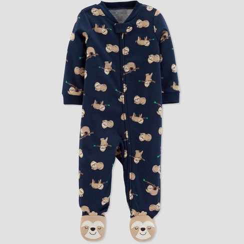 Baby Boys' Interlock Sloth Sleep 'N Play - Just One You® made by carter's Navy Blue - image 1 of 1