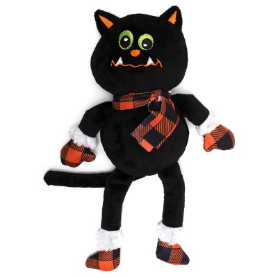 The Worthy Dog Buffalo Cat Toy - Black - One Size