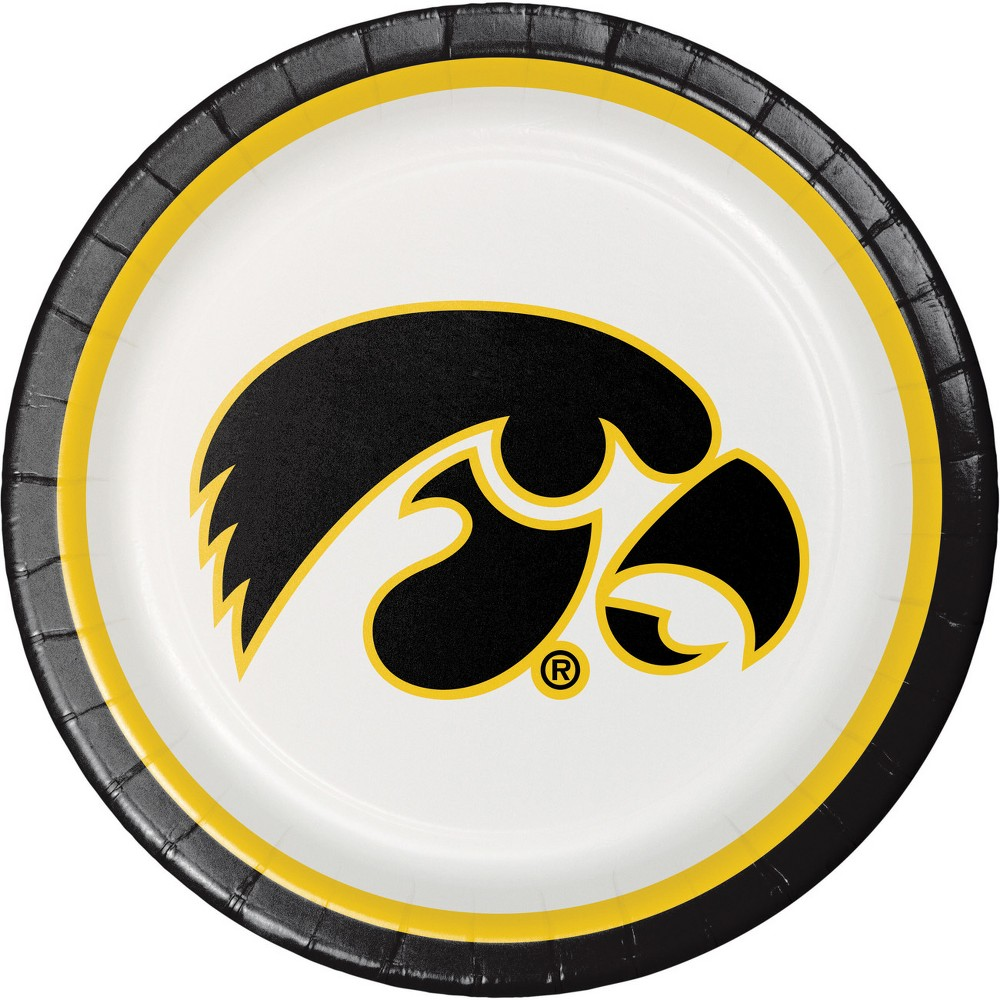 Image of 24ct Iowa Hawkeyes Paper Plates Red