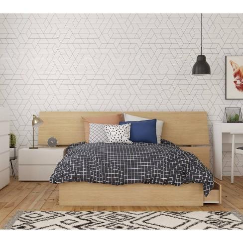3pc Full Bali Bedroom Set Natural Maple/White - Nexera - image 1 of 4