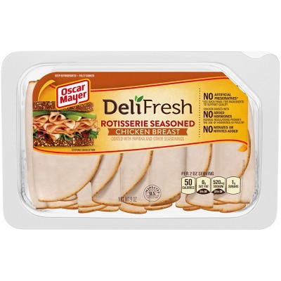 Oscar Mayer Deli Fresh Sliced Rotisserie Seasoned Chicken Breast - 9oz