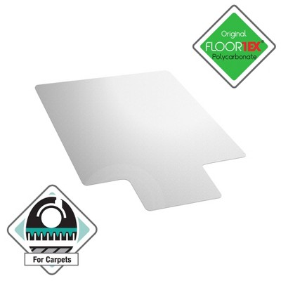 Polycarbonate Chair Mat for Carpets Lipped Clear - Floortex