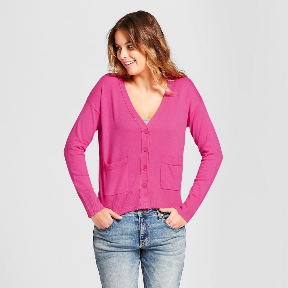 Women's Any Day V-Neck Cardigan Sweater - A New Day Pink XS