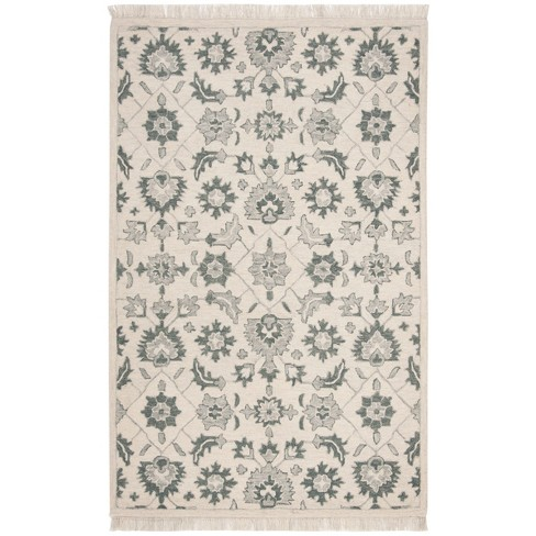 Shapes Tufted Area Rug Green Gray