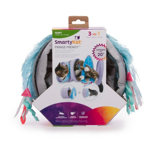 SmartyKat Fringe Frenzy Tunnel Cat Toy - image 1 of 3