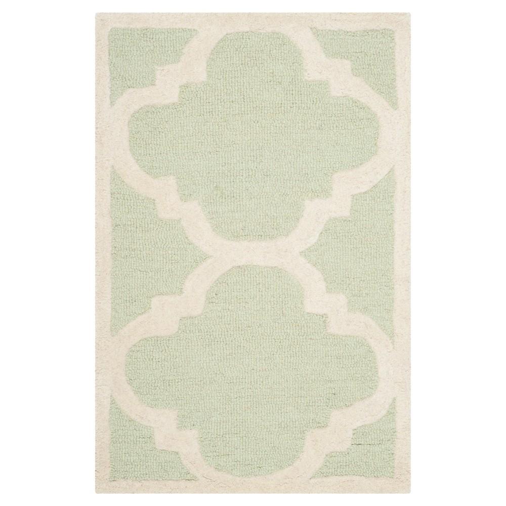 Landon Texture Wool Rug - Light Green / Ivory (2' X 3') - Safavieh, Light Green/Ivory