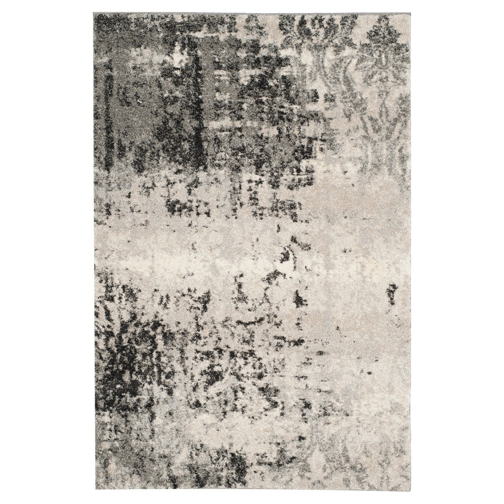 Kensington Area Rug - Light Gray / Gray ( 4' X 6' ) - Safavieh
