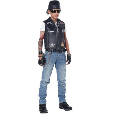 California Costumes Cool Kid Biker Vest Child Costume