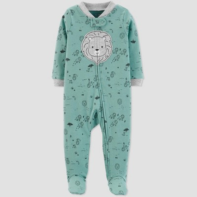 Baby Boys' Sleep 'N Play Lion 1pc Pajama - Just One You® made by carter's Green 3M