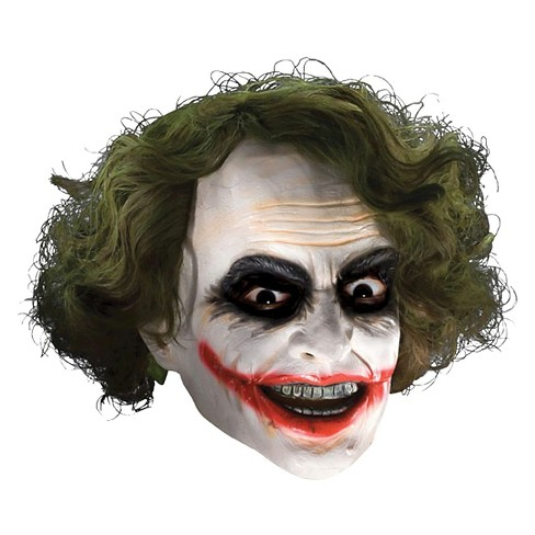 Joker 3/4 Vinyl Mask With Hair - One Size Fits Most - image 1 of 1
