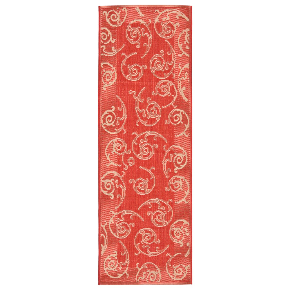 2 39 3 34 X6 39 7 34 Rectangle Pembrokeshire Outdoor Rug Red Natural Safavieh