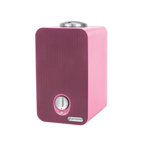 "GermGuardian 11"" AC4150PCA 4 in 1 Night HEPA Air Purifier System with UV Sanitizer Odor Reduction and projector Table Top Tower Pink - image 1 of 3"
