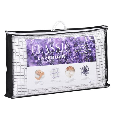 King Lavender Infused Ventilated Foam Pillow White - Classic Brands