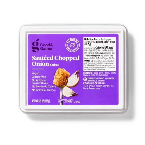 Frozen Sauteed Chopped Onion Cubes - 5.8oz - Good & Gather™ - image 1 of 2