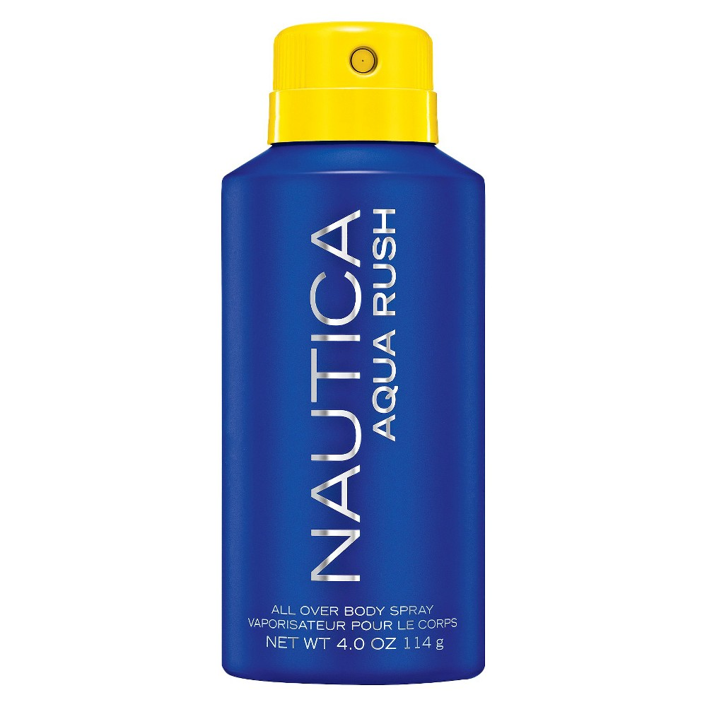 Nautica 4 floz Sporty Perfumes And Colognes Energetic. Confident. Inspired. Nautica Aqua Rush captures the freedom and adventure of the man who is undeniably masculine and appreciates the rush he gets from living life to the fullest. Gender: male.