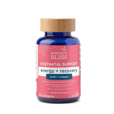Mommy's Bliss Postnatal Support Energy + Recovery, Biotin + Collagen - 60ct