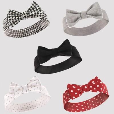 Hudson Baby 5pk Houndstooth & Polka Dots Headbands - 0-24M