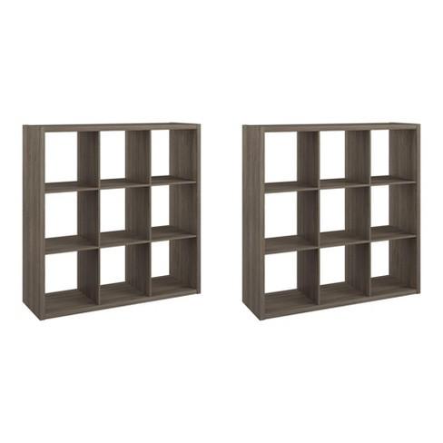 ClosetMaid 459000 Heavy Duty Decorative Bookcase Open Back 9-Cube Storage Organizer, Graphite Gray (2 Pack) - image 1 of 4