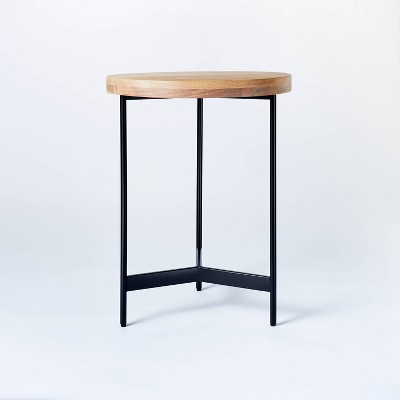Villa Park Round Wooden End Table Brown - Threshold™ designed with Studio McGee