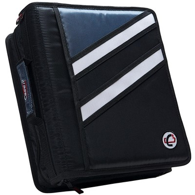 Case-it Z-Design Zippered Binder with Tab File, D-Ring, 1-1/2 Inches, Black