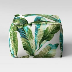 Vacation Tropical Outdoor Pouf Green - Threshold™
