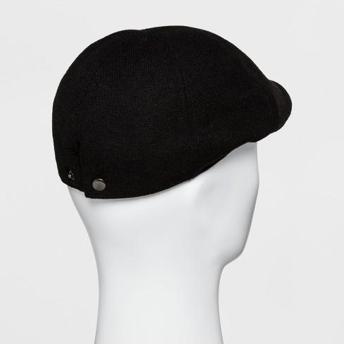 Men s 6 Panel Ivy Driving Cap - Goodfellow   Co™ Black One Size   Target f15122d68943